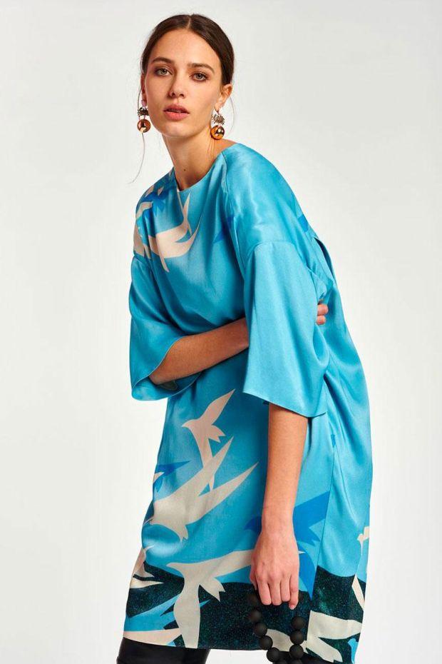 Essentiel Antwerp Robe ANTI T-Shirt Dress - Combo Clear Sky