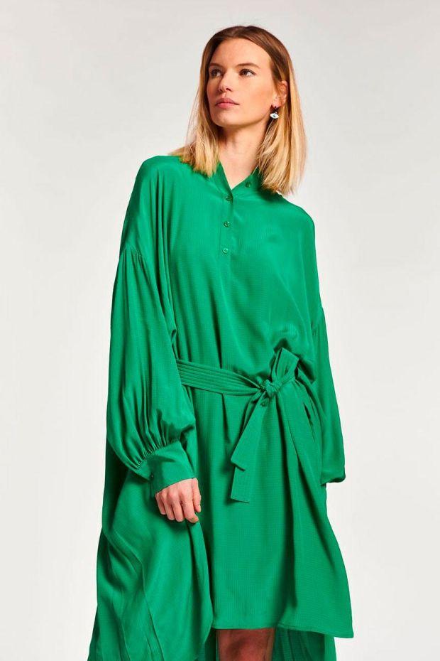 Essentiel Antwerp Robe ALINI Oversized Dress - Green Machine