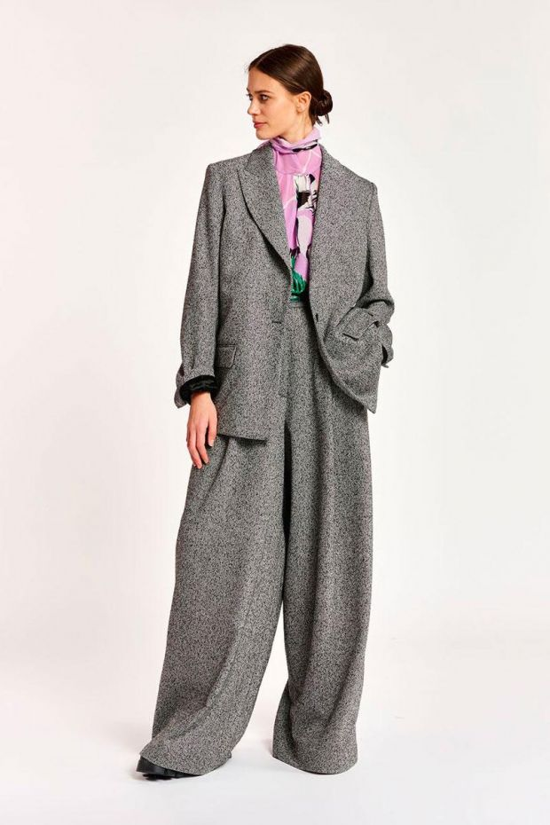 Essentiel Antwerp Blazer ACCLIMATE Straight Fit - Combo Smoky Grey