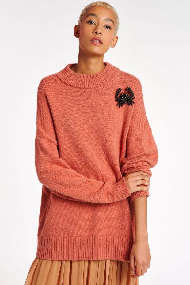 Essentiel Antwerp Pull ANAPURNA Sweater - Powder pink