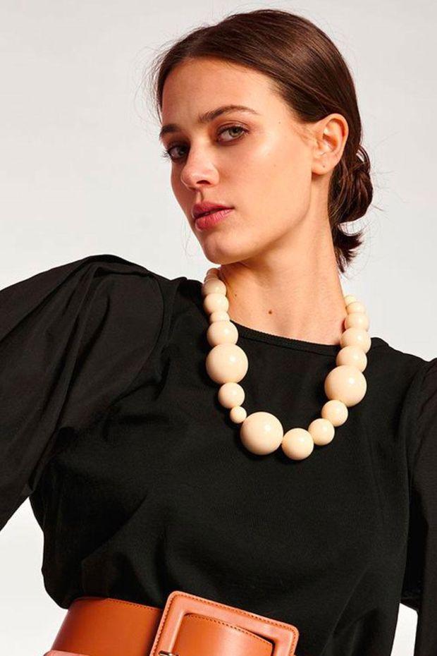 Essentiel Antwerp Collier ANXIOUS Acryl beads necklace - Vanilla Crush