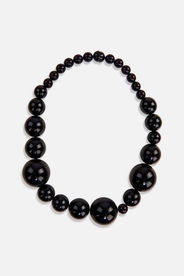 Essentiel Antwerp Collier ANXIOUS Acryl beads necklace - Black