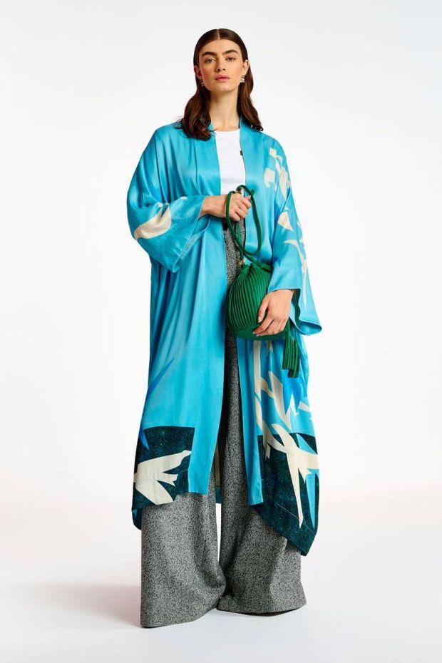 Essentiel Antwerp Veste ANTARTICA Kimono - Combo Clear Sky