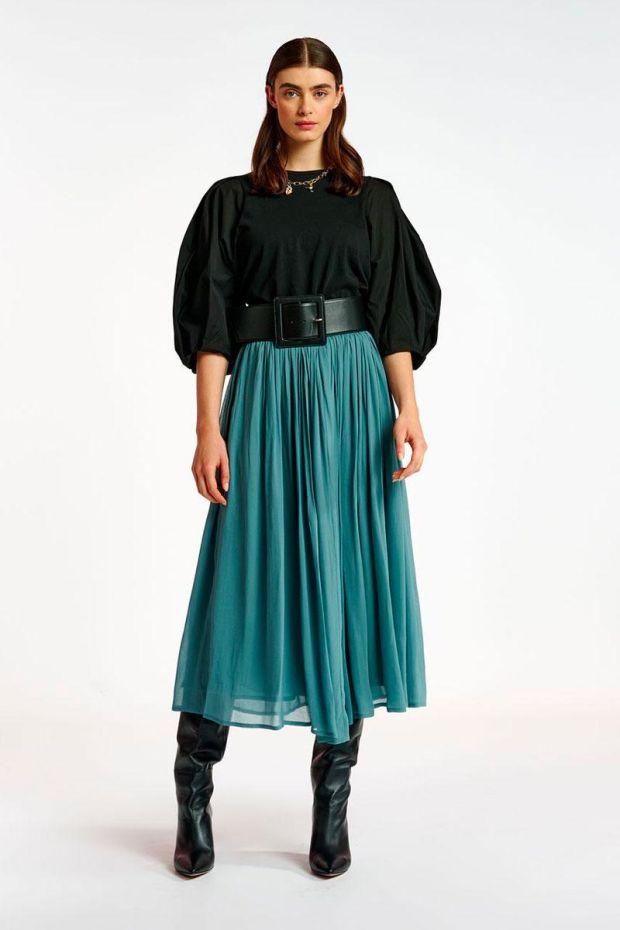 Essentiel Antwerp Jupe ARDEN Skirt - Foggy Blue