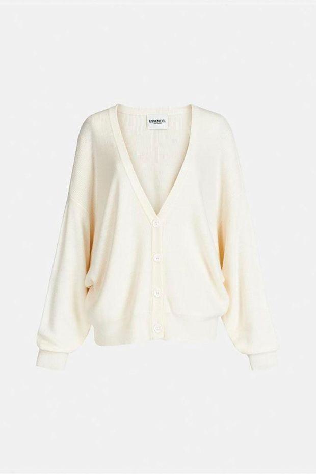 Essentiel Antwerp Gilet ARDIGAN Cardigan - Off White