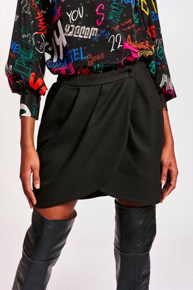 Essentiel Antwerp Jupe ANWRAP Miniskirt - Black