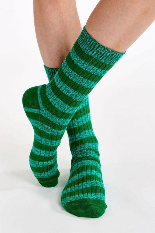 Essentiel Antwerp Chaussettes AGASSI Sporty Socks - Green Machine
