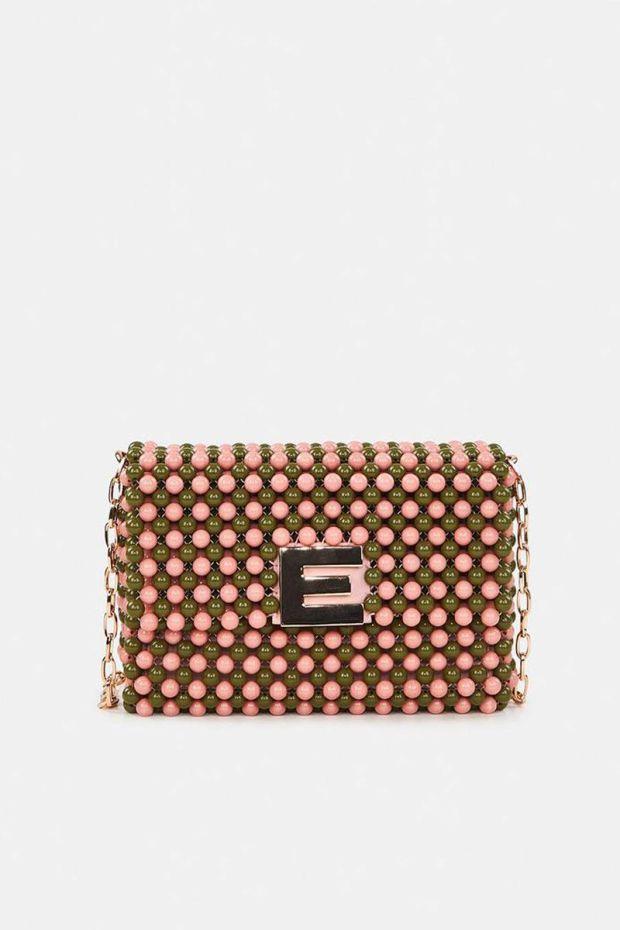 Essentiel Antwerp Sac AZISSI2 Beaded Mini Bag - Combo Powder Pink