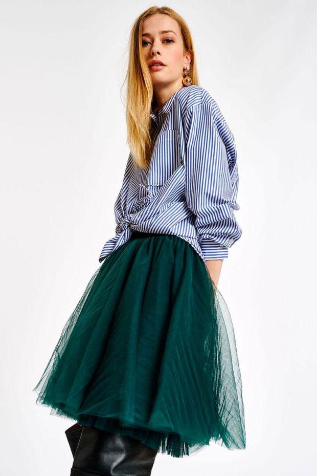 Essentiel Antwerp Jupe ABELLA Tulle Layered Skirt - Blue