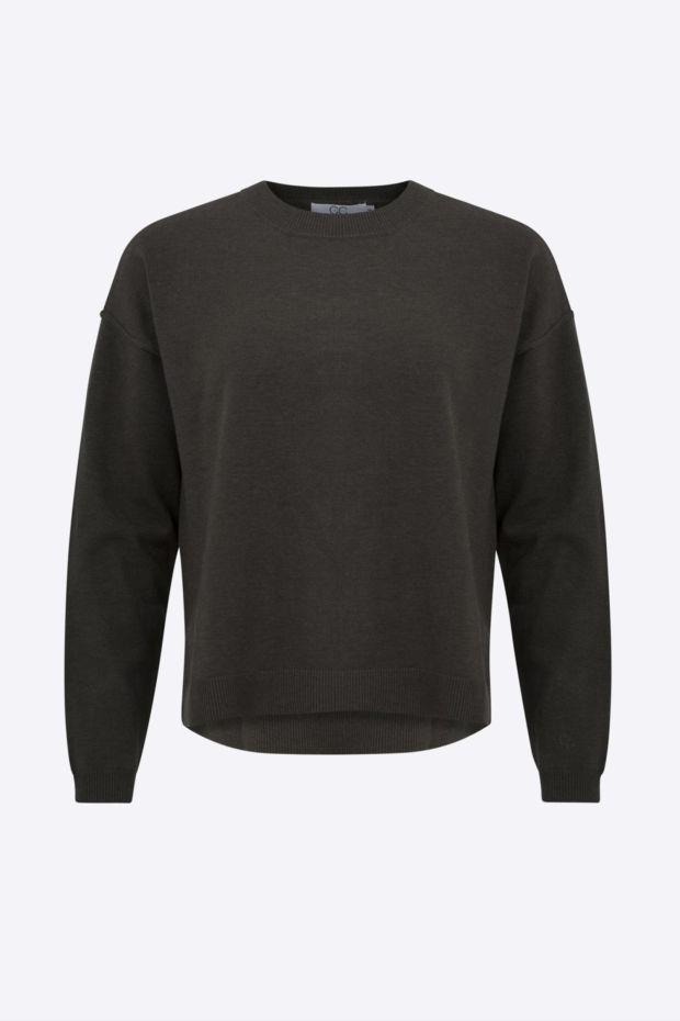 Coster Copenhagen CC Heart Comfy knit sweater - Hunter Green