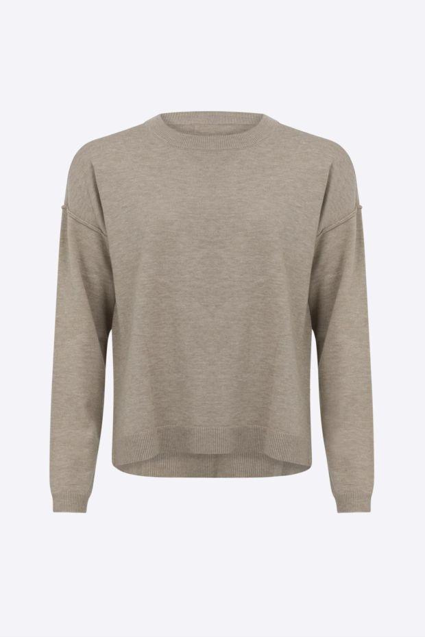 Coster Copenhagen CC Heart Comfy knit sweater - Sand