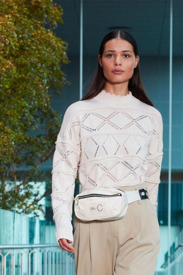 Coster Copenhagen Pull Pointelle sweater in Seawool - Cream