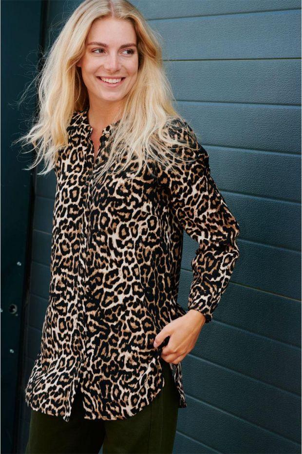Coster Copenhagen Blouse Long sleeve shirt in Leopard