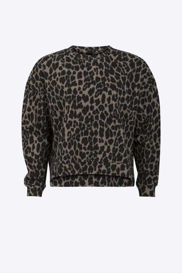 Coster Copenhagen Leopard Sweat Jacquard