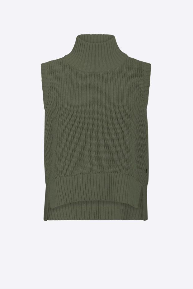Coster Copenhagen CC Heart knit vest - Army Green