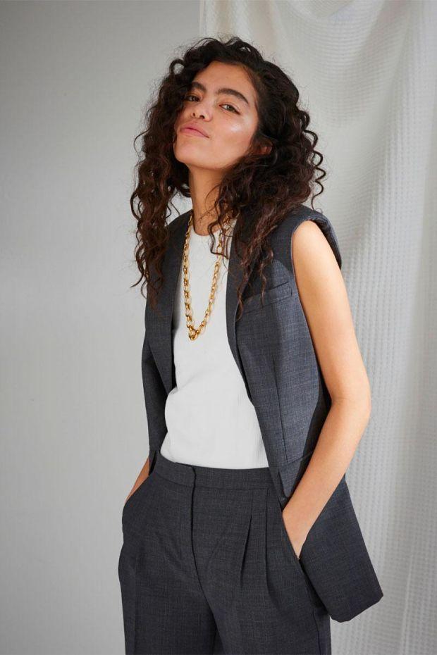 Designers Remix TORINO Vest - Grey Check