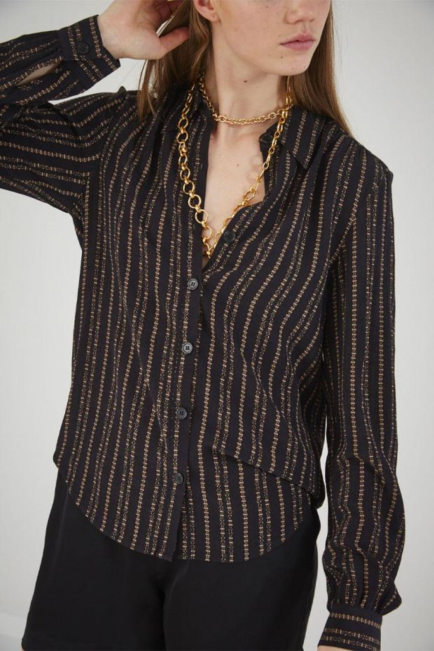 Designers Remix Blouse MADEIRA Shirt - BlackSand Print