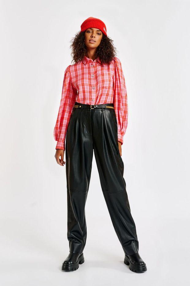Essentiel Antwerp Pantalon AWL Fake Leather - Black