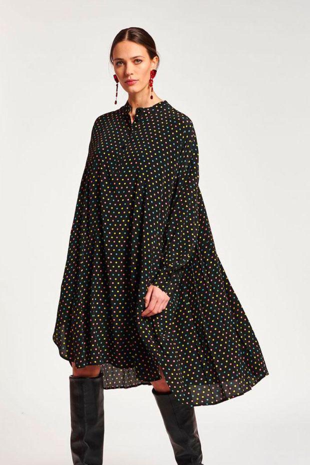 Essentiel Antwerp Robe ASTERICAL Oversized Dress - Combo Black
