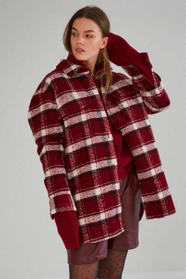 Designers Remix Veste Surchemise JAYDEN Shirt Coat - Red Check