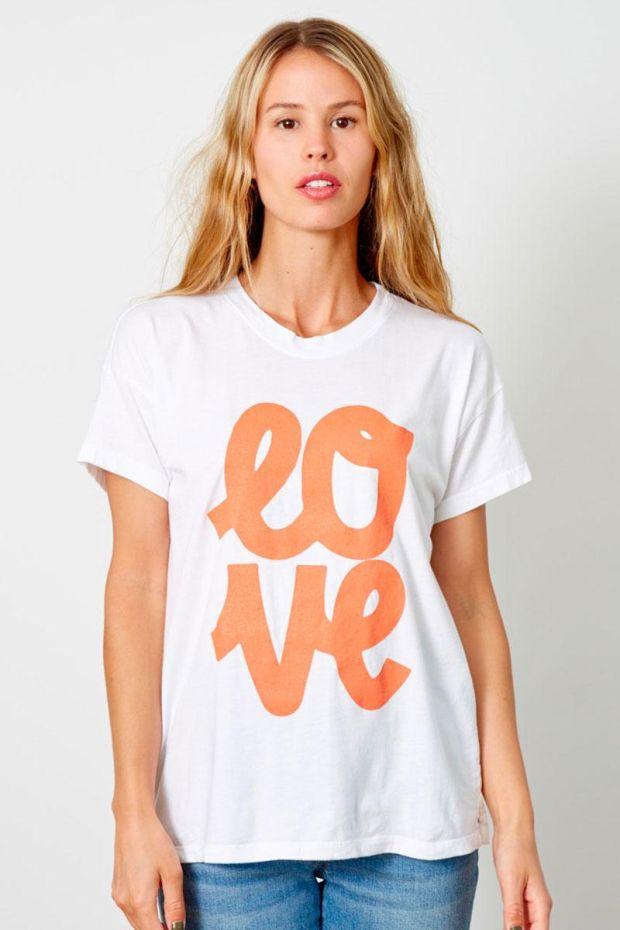 good hYOUman. T-Shirt BRICE - LOVE Block Cursive