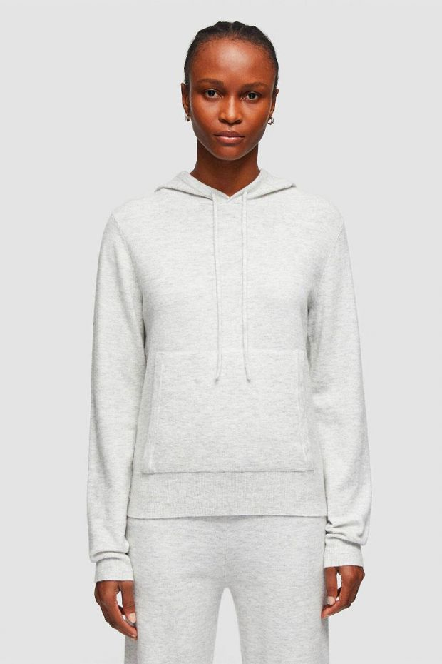 Joseph Pull Hoodie Cosy Wool Cashmere - Pearl