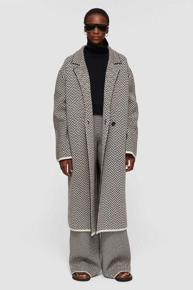 Joseph Manteau Coat Herringbone - Java Combo