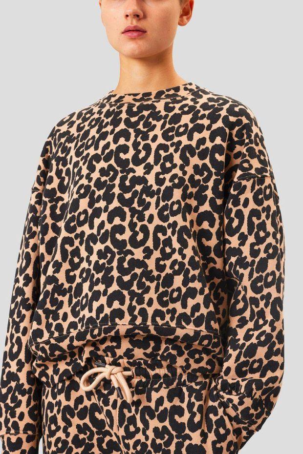 MUNTHE Sweat KELLY Leopard - Camel
