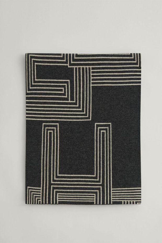 Joseph Echarpe Kaftan Wool Scarf - Graphite Combo