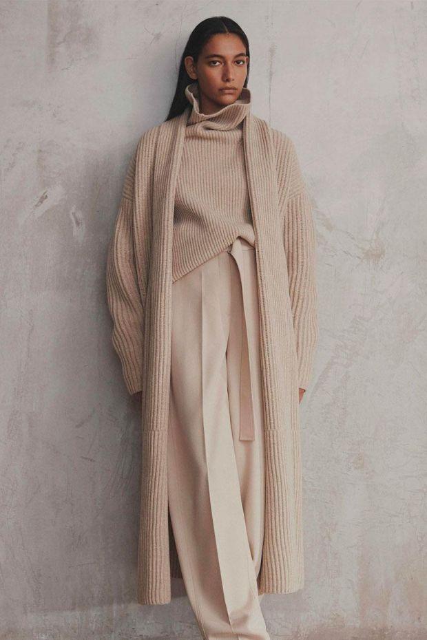 Joseph Manteau Cardigan Stitch Coat - Sandshell