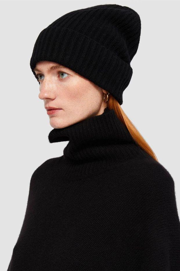 Joseph Bonnet Cardigan Stitch Hat - Black