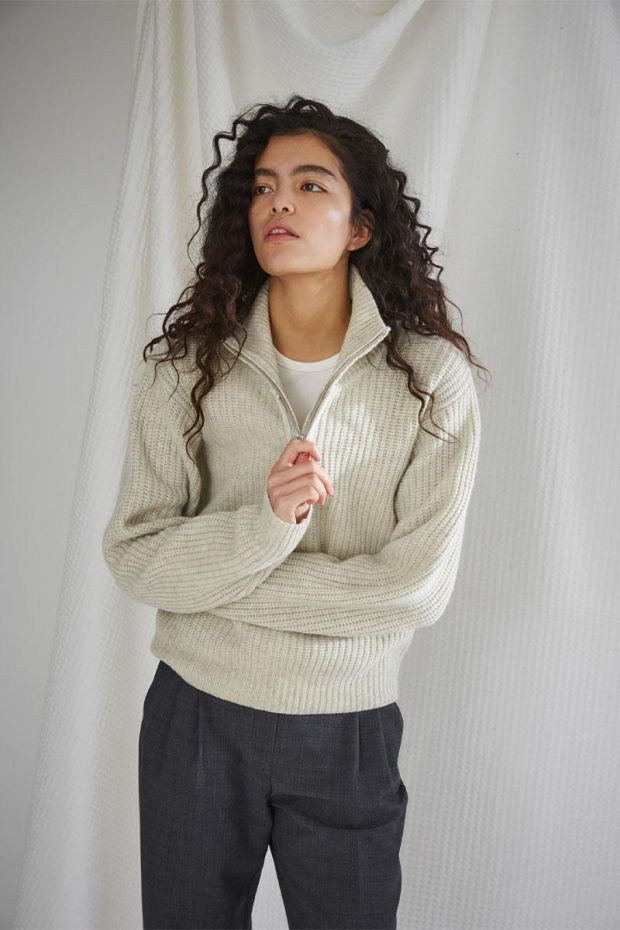 Designers Remix Pull Carmen Sweater - Oatmeal